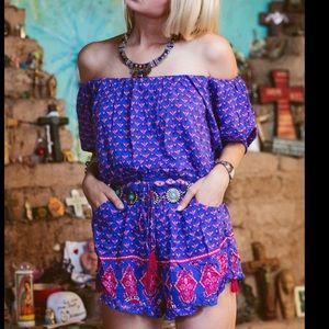 Spell & the Gypsy Sunset Road purple Romper S